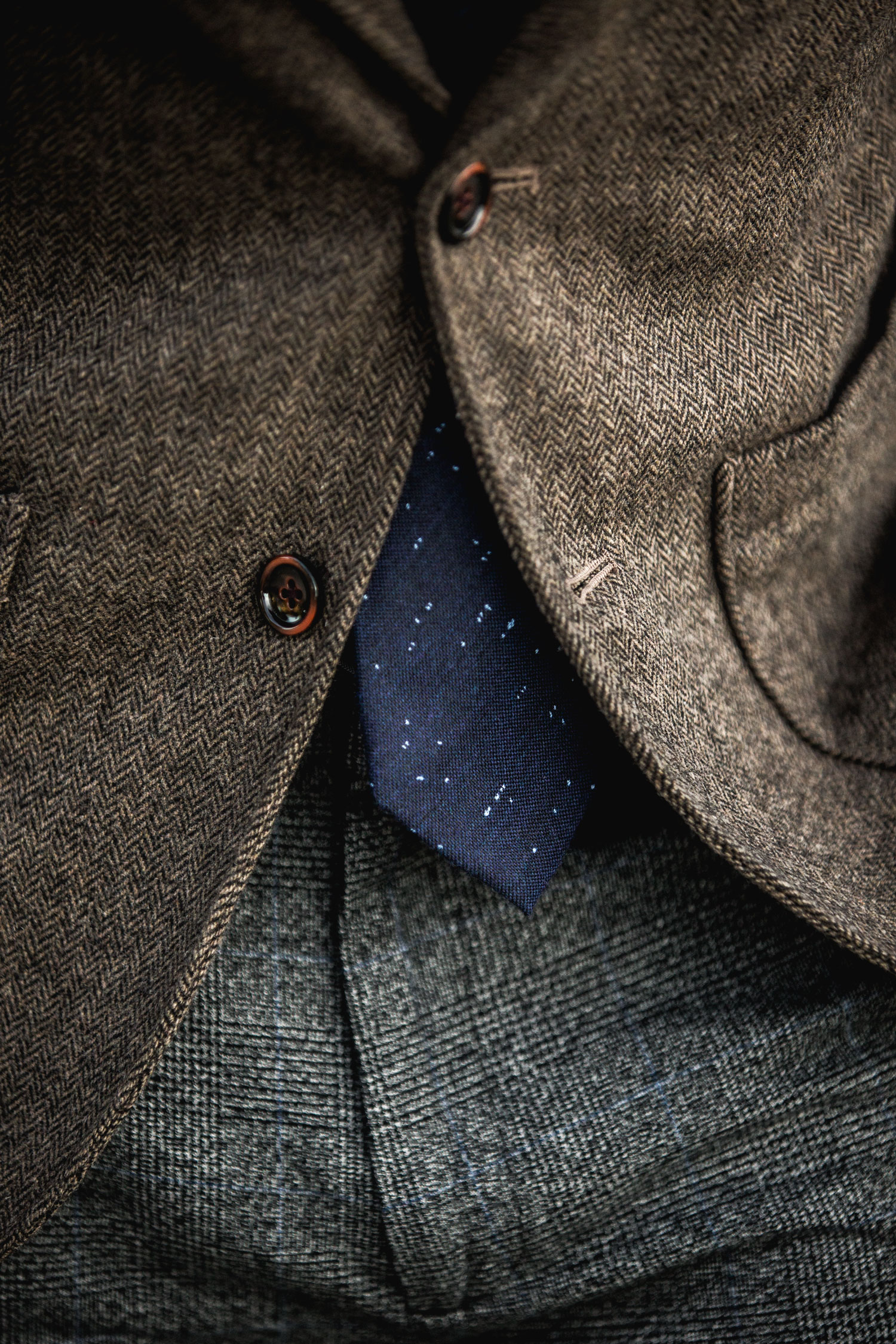 men fall textures tweed glen check