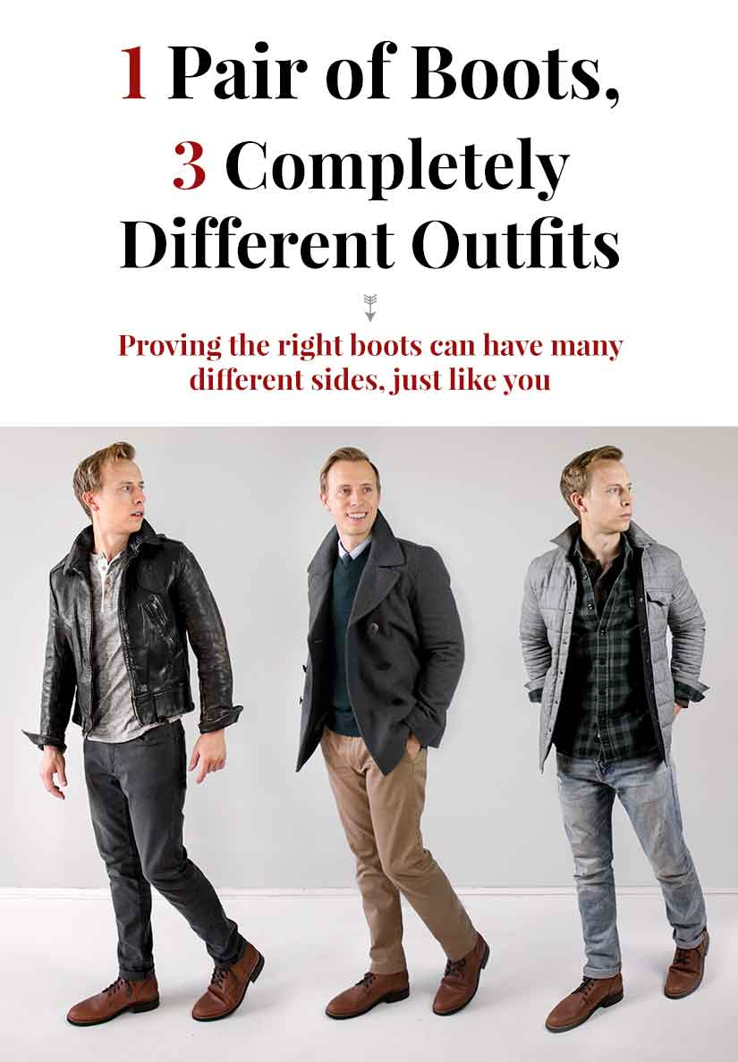 1 Pair of Boots, 3 Completely Different Outfits