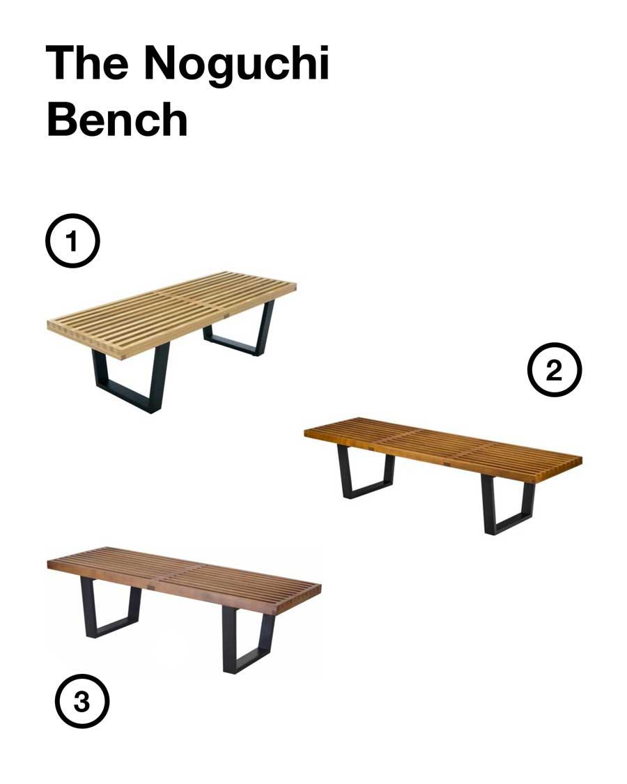 noguchi bench affordable