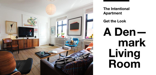 The Intentional Apartment: Get the Look – A Denmark Living Room