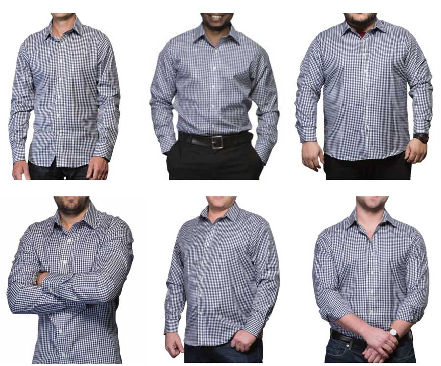 men's dress shirt sizes