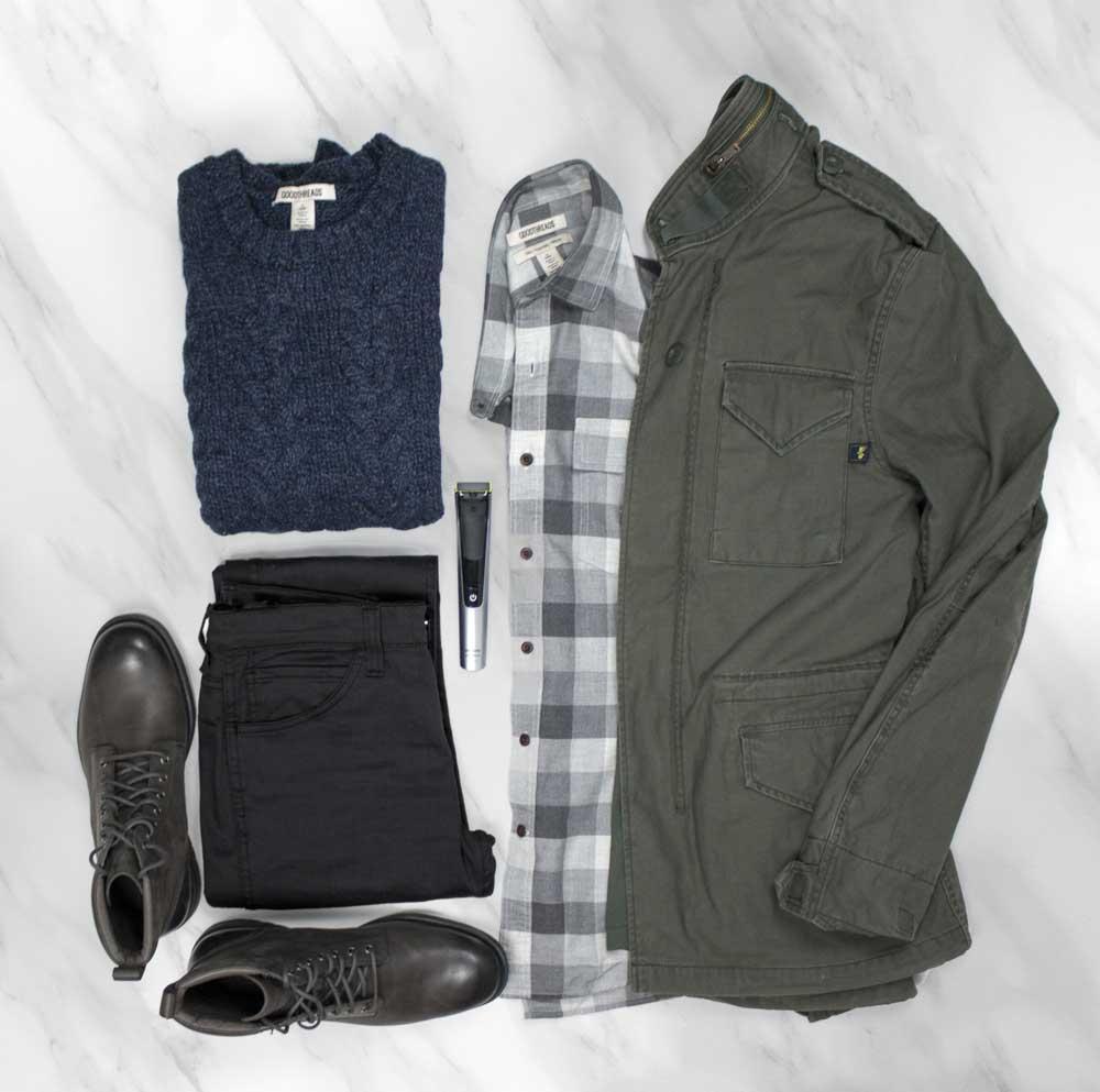 men's style flatlay