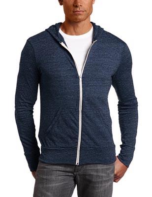 Blue zip up hoodie