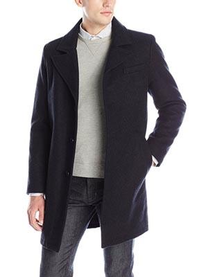 A man wearing an overcoat