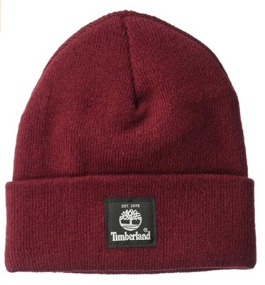 Red timberland hat