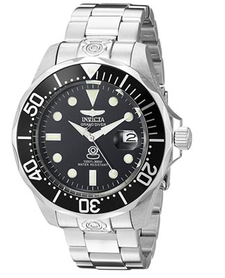 A close up of an invicta watch