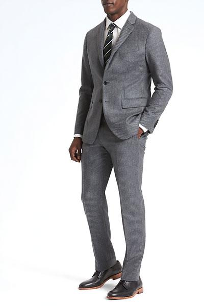A gray suit