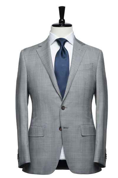 A gray suit on a mannquin