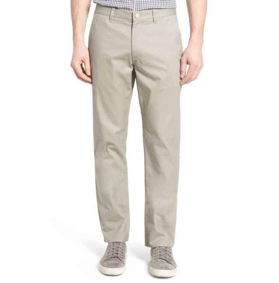 Man wearing tan pants
