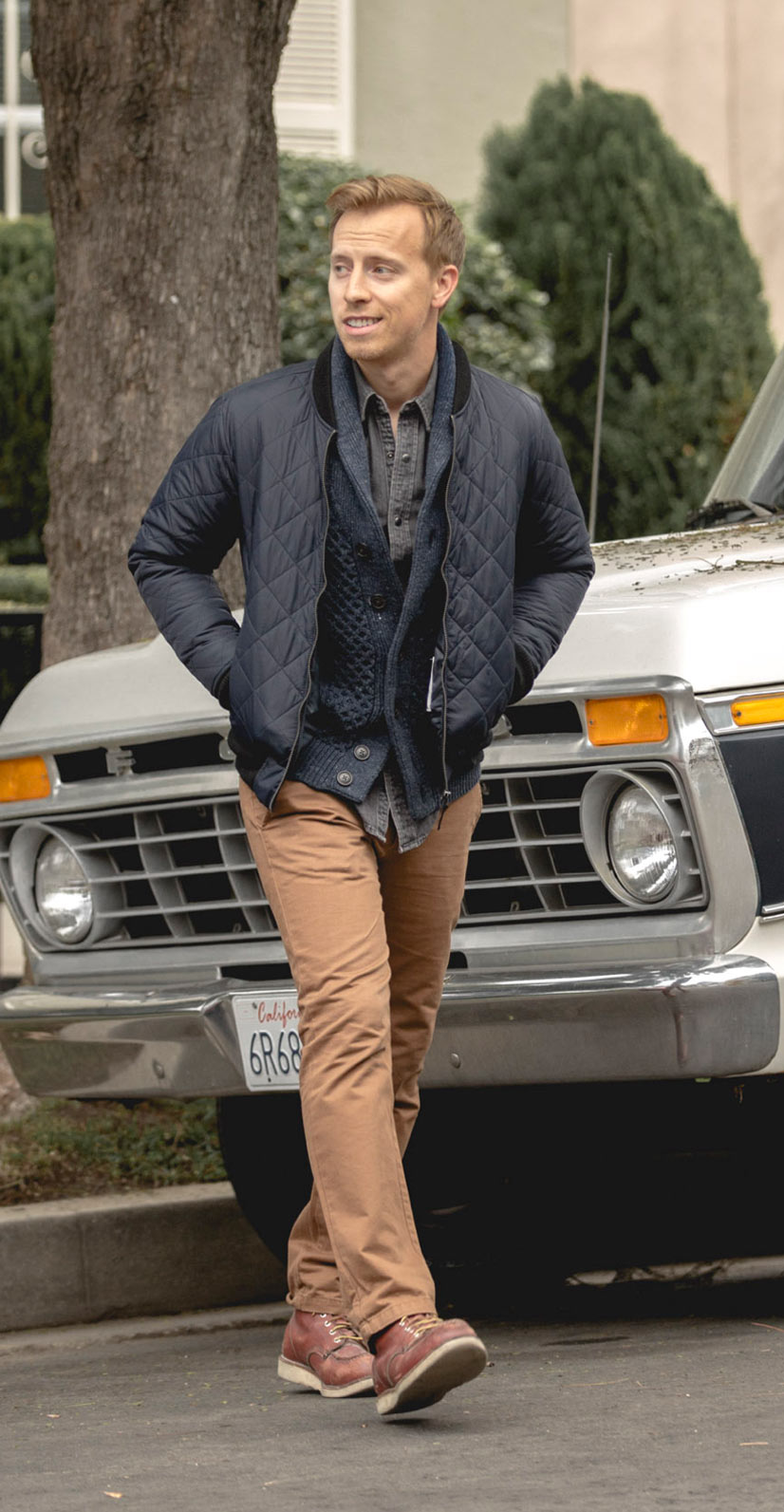 men casual fall winter fashion outfit inspiration