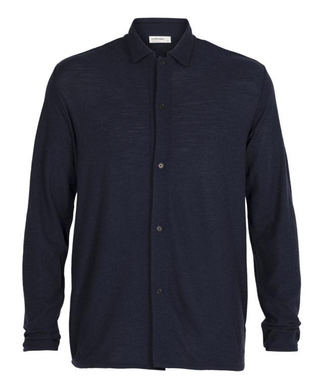 merino wool long sleeve button up shirt jacket