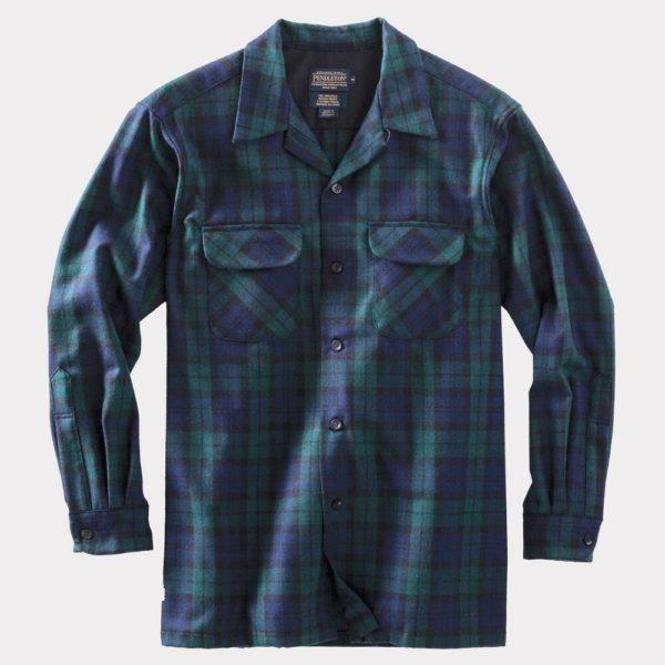 pendleton wool long sleeve button down shirt