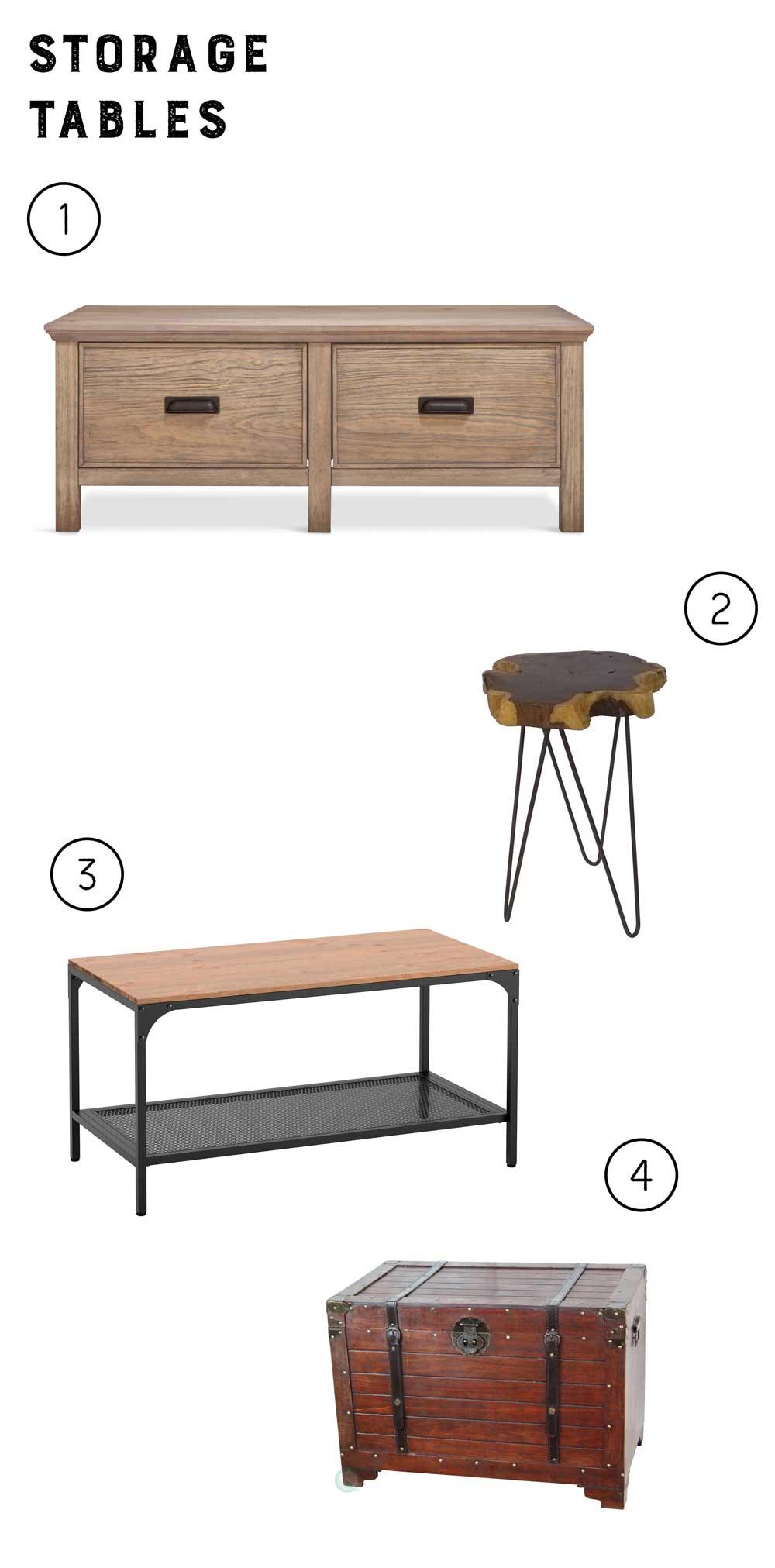 rustic apartment tables