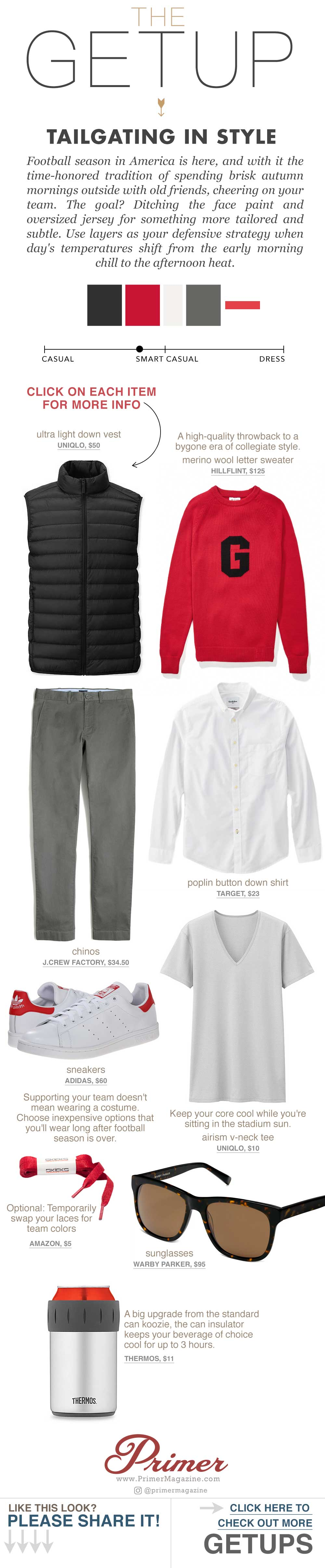 what to wear to tailgate men