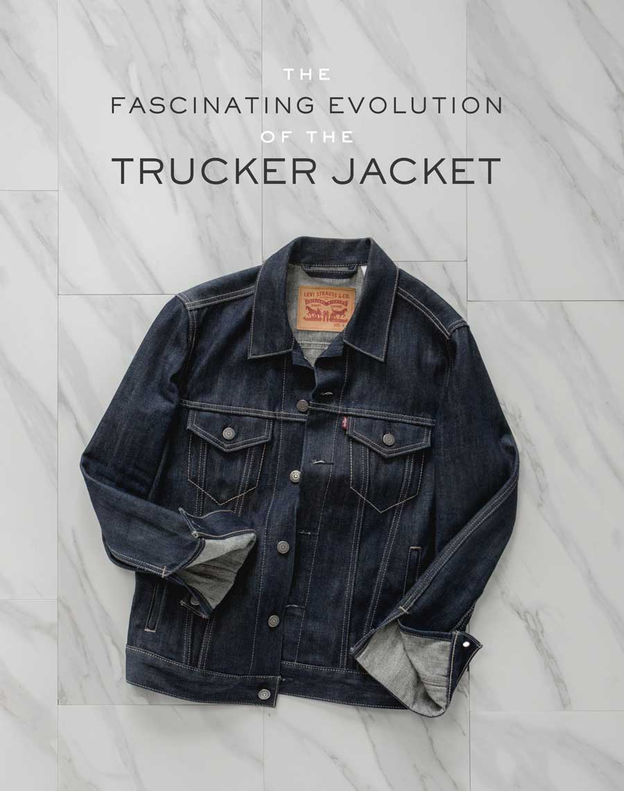 the fascinating evolution of the denim trucker jacket