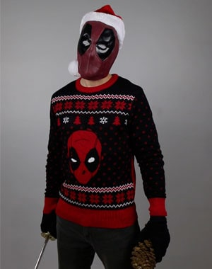 deadpool marvel ugly christmas sweater