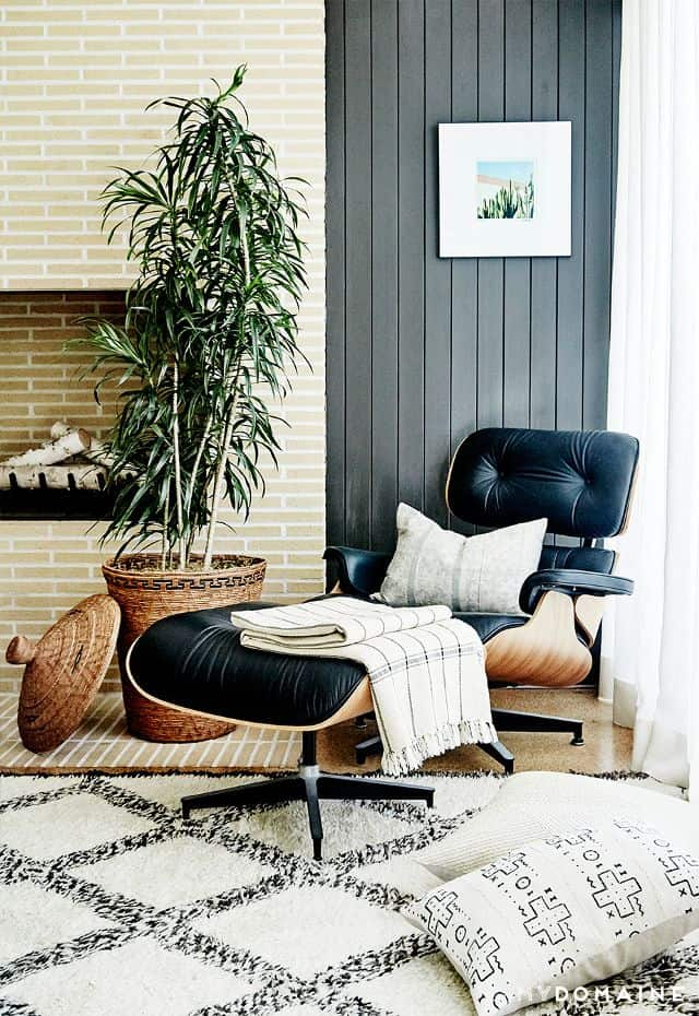 A living room with eames lounge chair