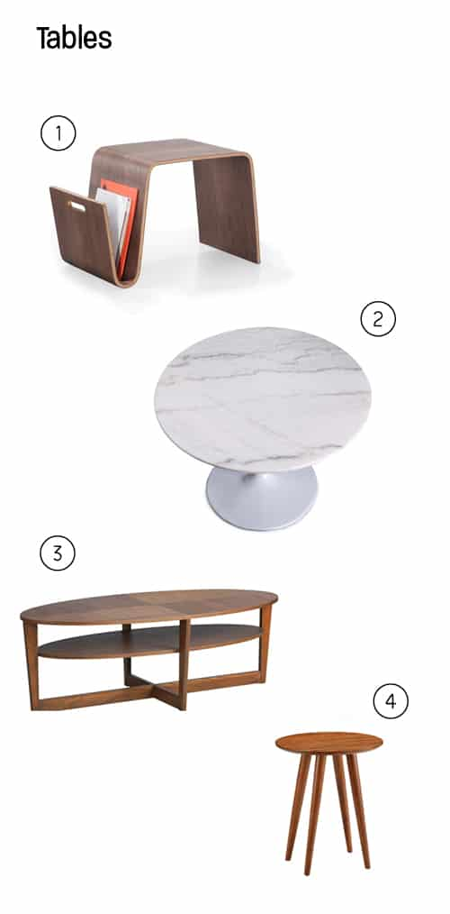Side table inspiration with numbers associated with them