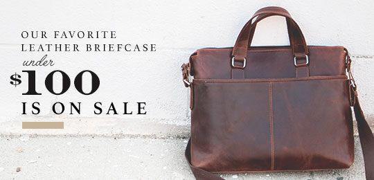 Sale: Our Favorite Leather Briefcase Under $100 is On Sale