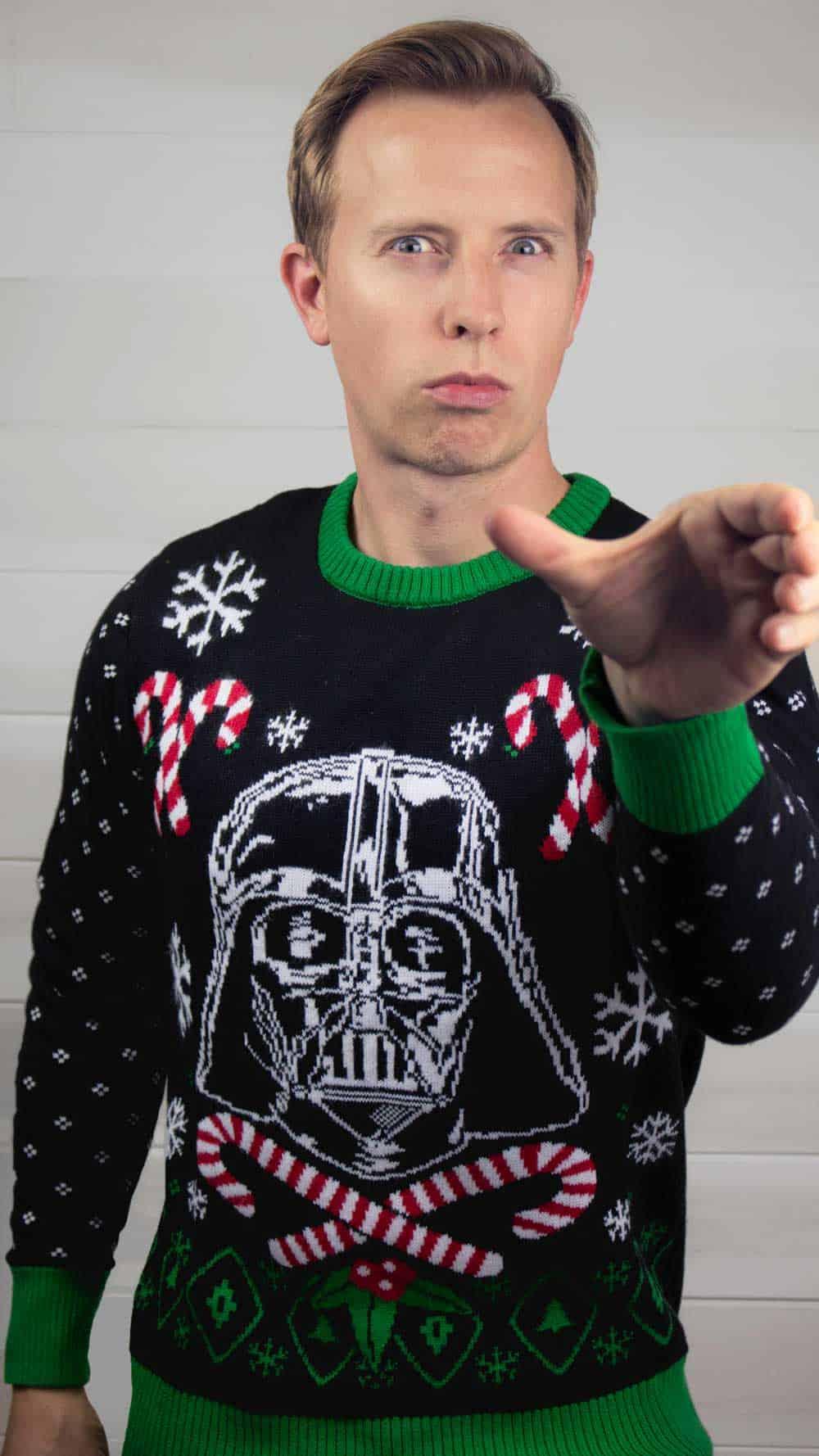 Star Wars Darth Vader ugly Christmas sweater