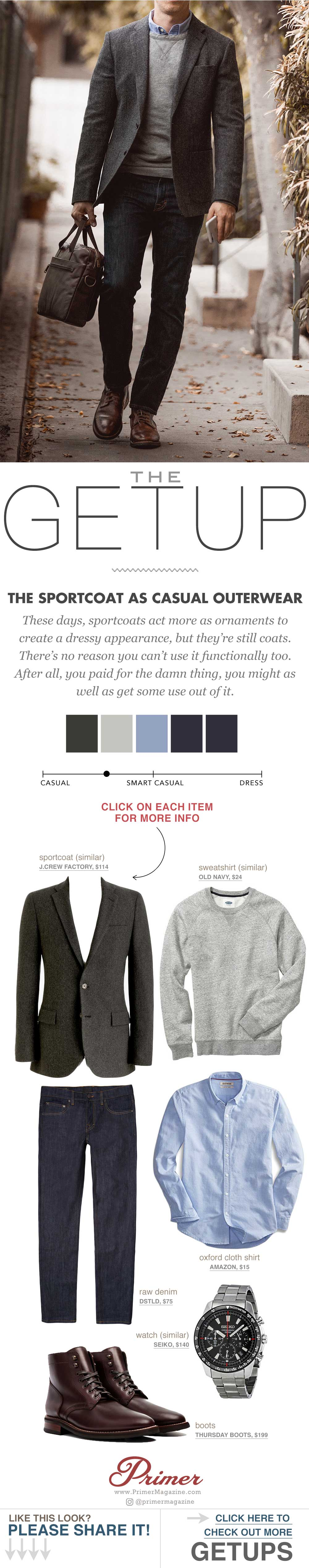 men sportcoat casual outfit inspiration the getup primer