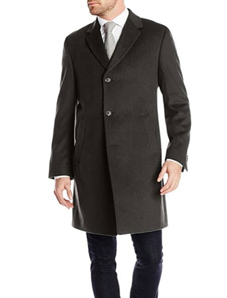 charcoal wool overcoat men