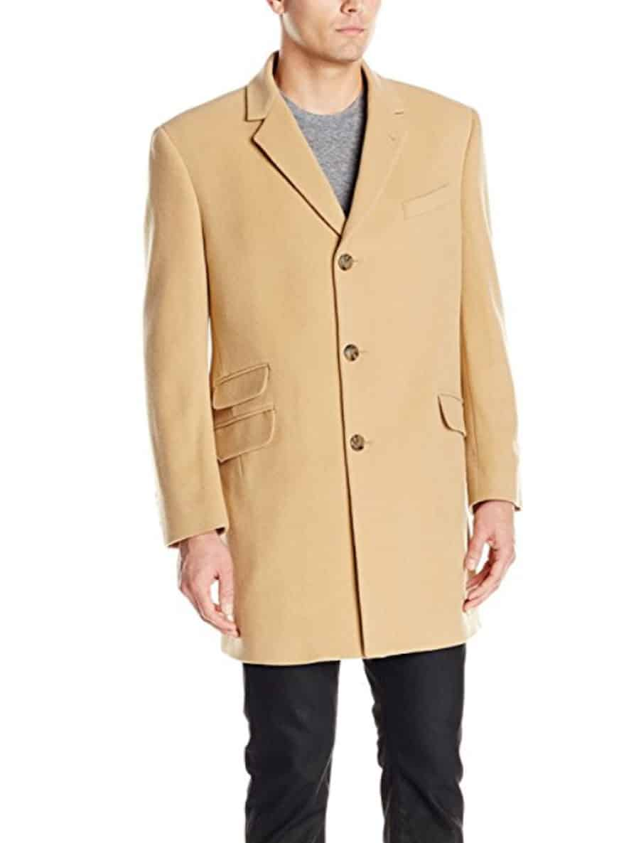 camel color overcoat