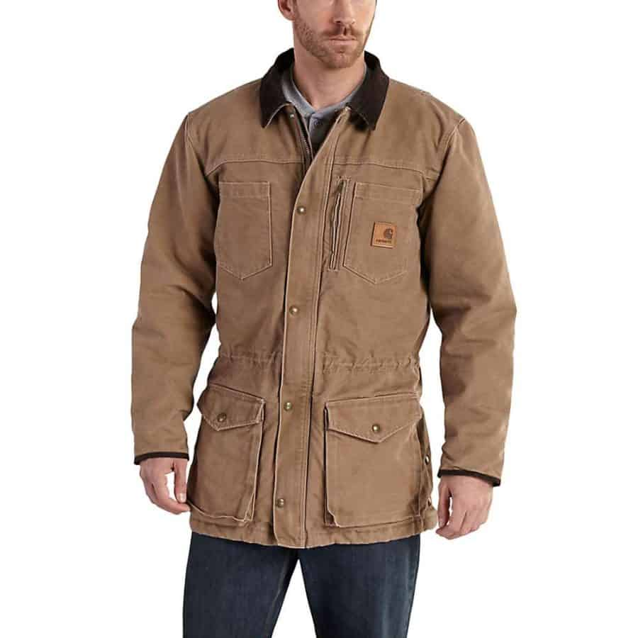Image of Carhartt mens Canyon coat in tan