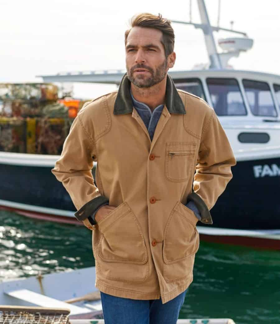 IMage of the LL Bean Field Jacket in tan