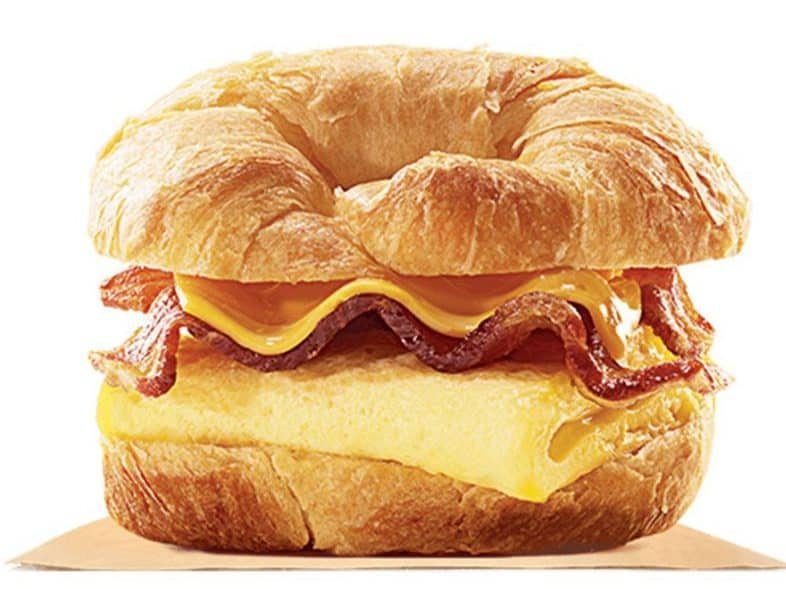 Image of the burger king croissanwich breakfast sandwich