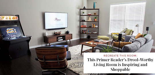 Recreate this Room: This Primer Reader's Drool Worthy Living Room is Inspiring and Shoppable