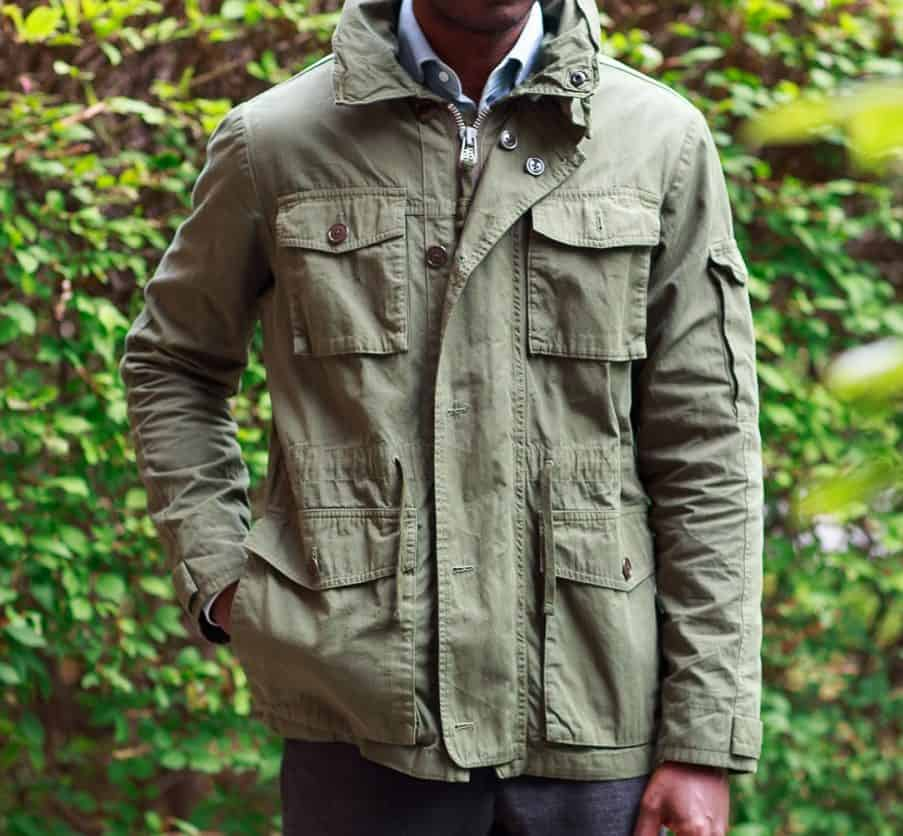 Image of the J Crew Field Mechanic jacket in olive