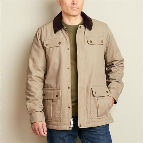 Image of the Duluth trading company fire hose field jacket