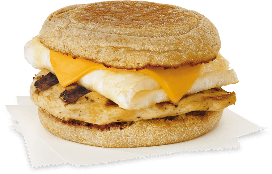 Image of the chick fil a breakfast sandwich the egg white grill