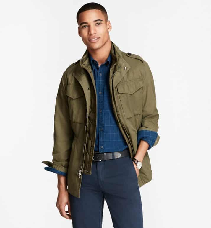Image of the Brooks Brothers three-in-one field jacket