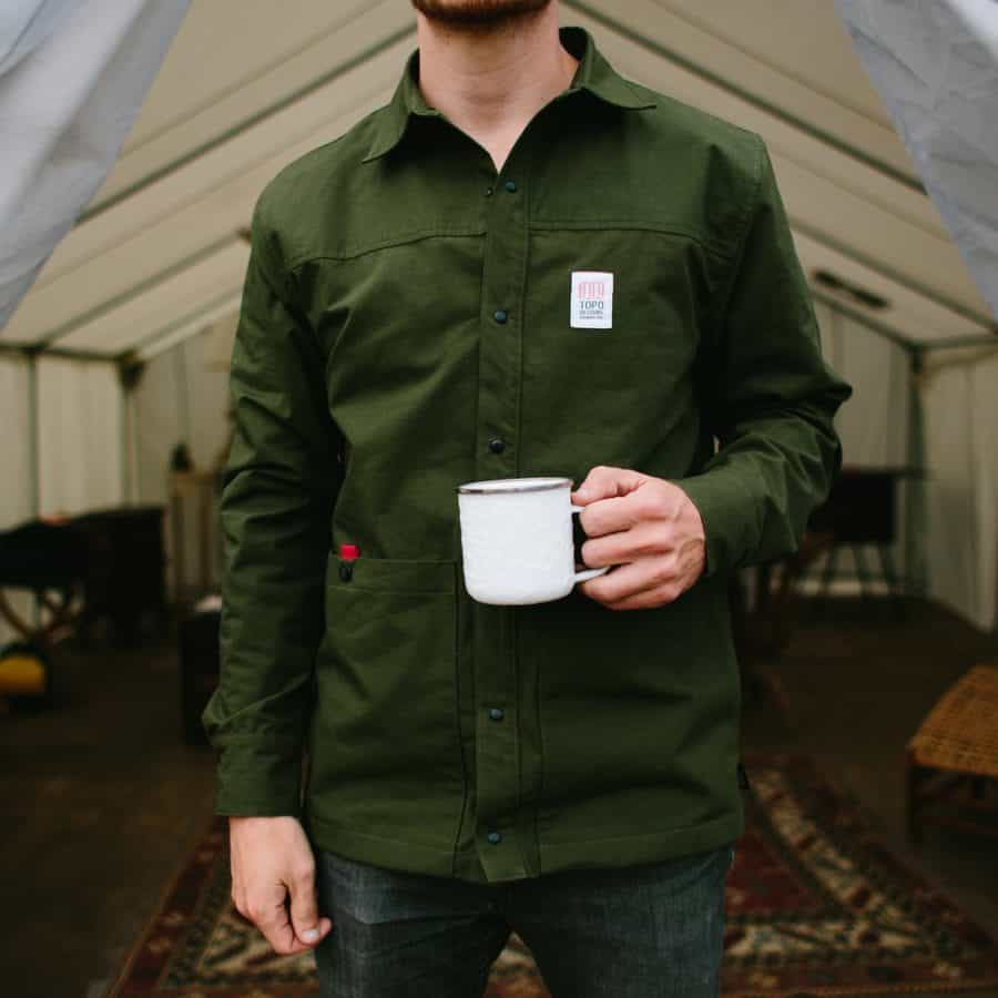 Topo designs vintage inspired field jacket in deep green