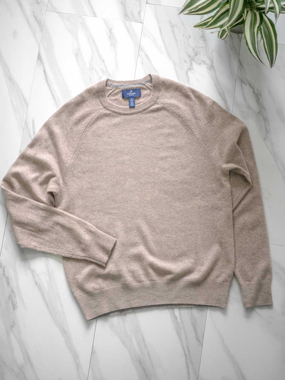 What is cashmere made from - buttoned down cashmere sweater