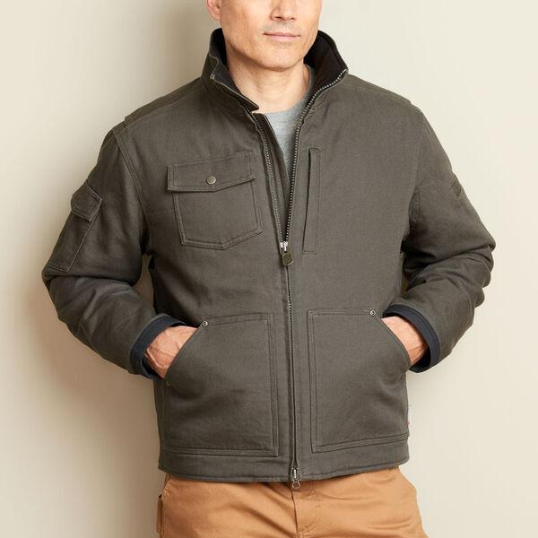 Gray zip up field jacket
