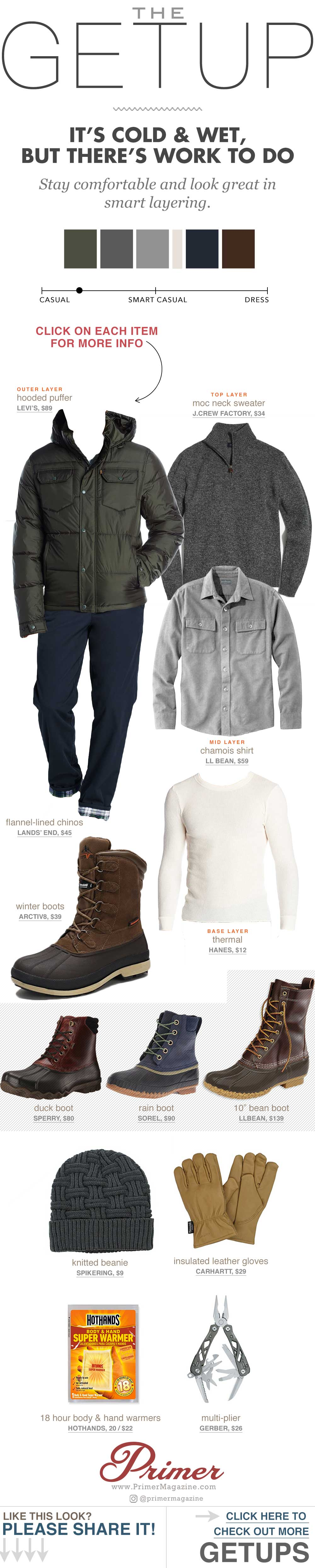 men cold winter outfit style inspiration winter boots