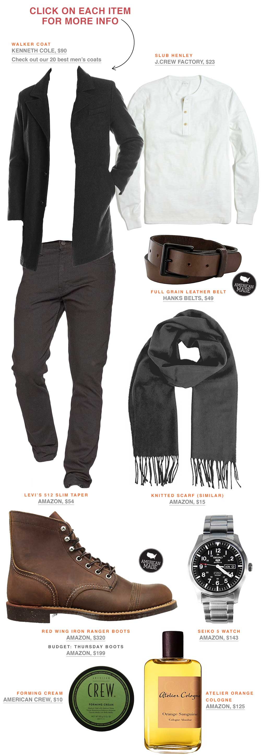 men's fashion inspiration outfit ideas live action getup primer magazine rugged fall winter