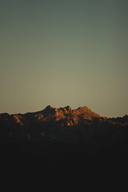 Photo of a sunset in Joshua Treet