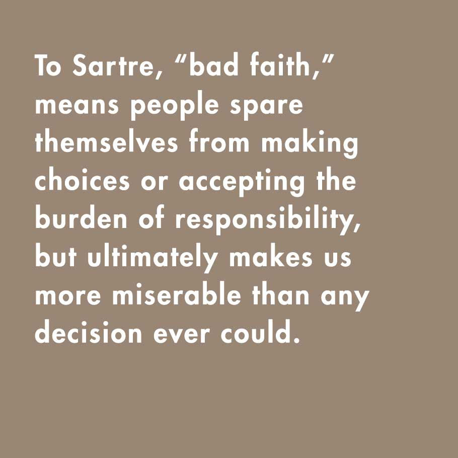 sartre bad faith