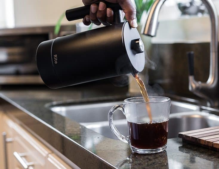 Image of the improved french press called Rite Press