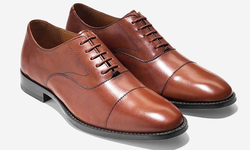 men's brown captoe dress shoes cole haan