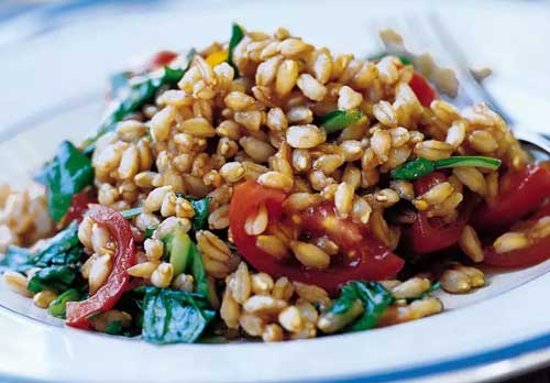 farro and arugala salad