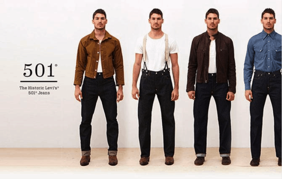 Image of the Levis vintage collection