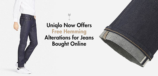 Uniqlo Now Offers Free Hemming Alterations for Jeans Bought Online