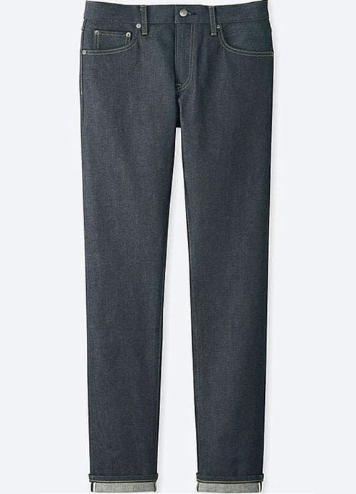 uniqlo stretch selvedge slim jeans