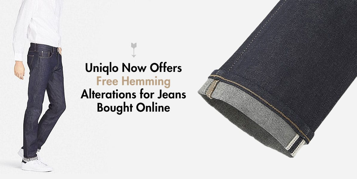 uniqlo jeans free hemming alterations