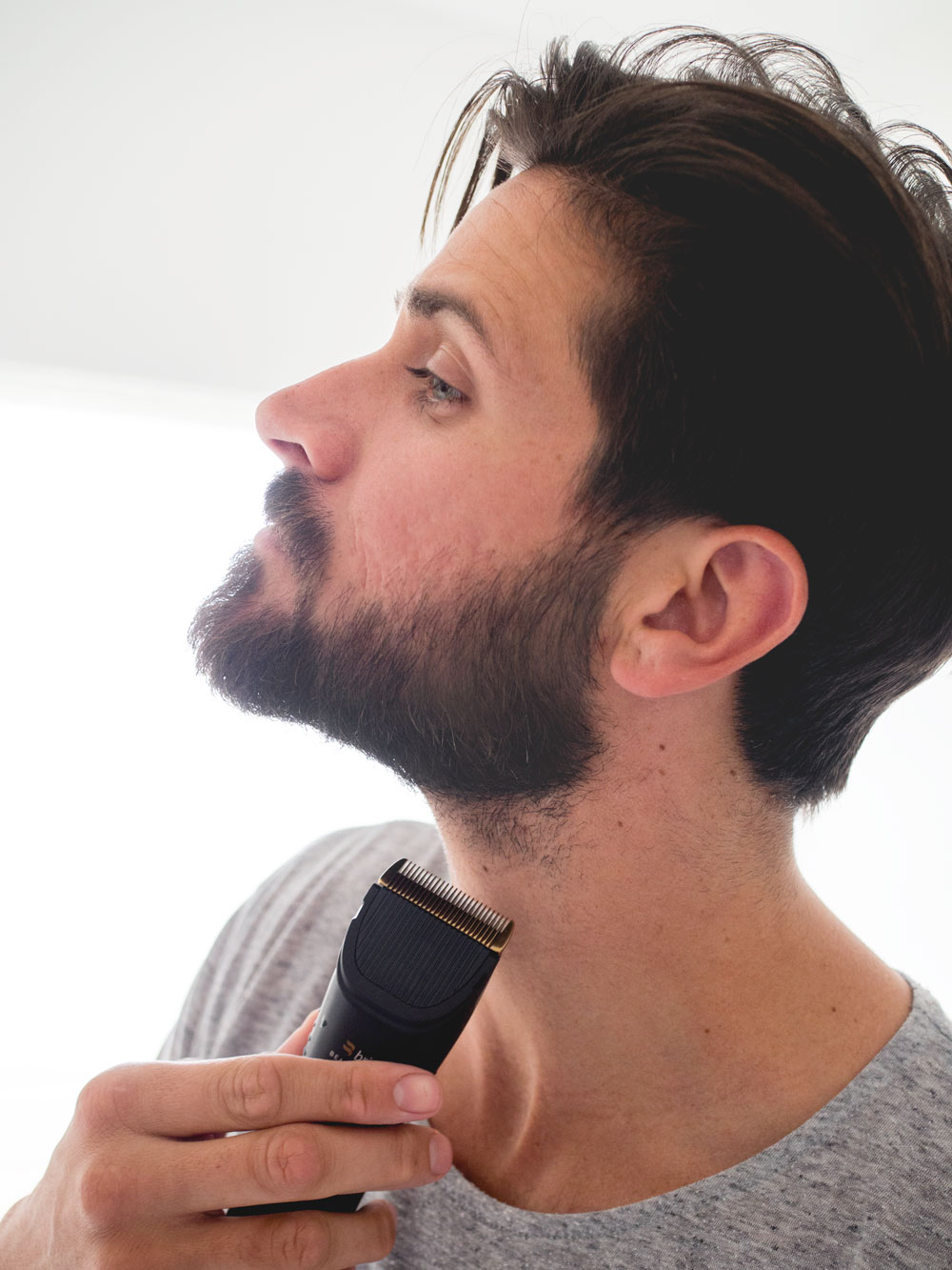 where to shave your beard line on your neck